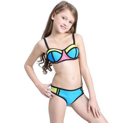 73fae2c2 BIKINI FOR TEENAGE Girls Swimsuit Patchwork Swimwear Kids Bathing Suit  Beachwear