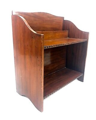 Antique Wooden Mahogany Book Shelf / Case / Rack / Wall Hanging / Tabletop