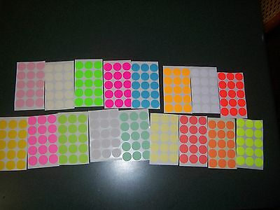 225 Blank rummage garage yard sale stickers labels price tags tabs 15 colors