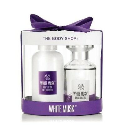 New Vegetarian The Body Shop Gifts Two Pack White Musk Scented Perfume and Lotio