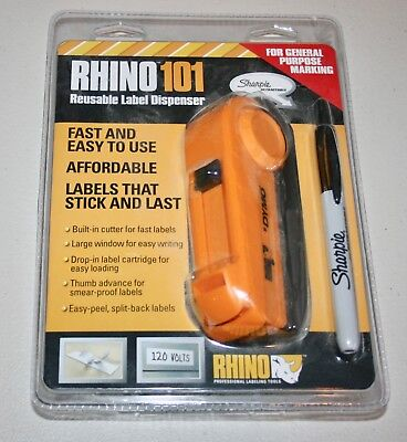 Rhino 101 by Dymo Reusable Label Dispenser New in unopened package