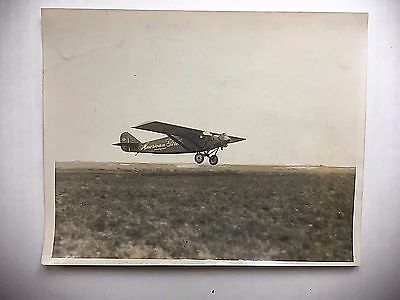 "Original 1920's Wire Photo Test Flight Of The ""american Girl"" Plane Ruth Elder"