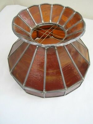 Vintage Art Deco Slag Glass Shade CHANDELIER Hanging Lamp Fixture Ceiling Light