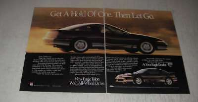 1989 Eagle Talon Tsi AWD Car Ad - Get a hold of one. Then let go