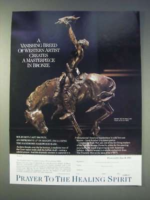 1989 Franklin Mint Ad - Prayer to the Healing Spirit by Buck McCain