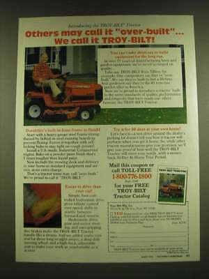 1990 Troy-bilt Tractor Ad - Others may call it over-bilt… we call it Troy-Bilt