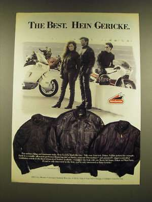1990 Hein Gericke Concord, Dakar and V-Pilot Motorcycle Jackets Ad