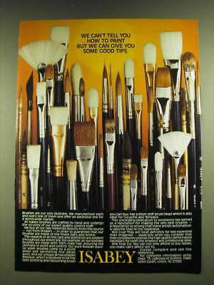 1990 Isabey Brushes Ad - We can't tell you how to paint
