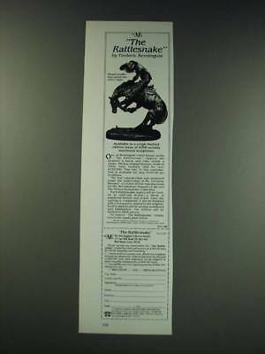 1987 The New England Collectors Society The Rattlesnake by Frederic Remington
