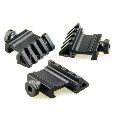 3 PCS Tactical 45 Degree Angle Offset 20mm Weaver Rail Mount Picatinny 4 Slot