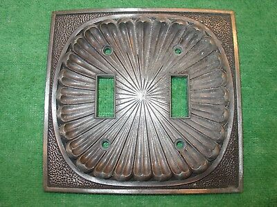 Vintage American Tack & Hardware Double Light Switch Plate Cover Plate