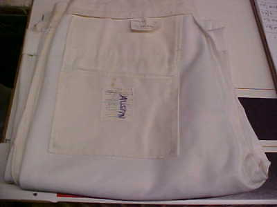 50% Navy Cracker Jack Sea Cadet Male Dress White Trousers Bell Bottoms 34X36 w79