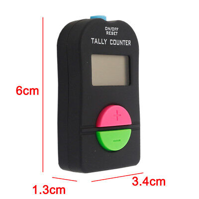 1X Digital Hand Tally Counter Electronic Manual Clicker Golf Gym Running