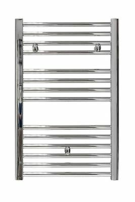 Bnib Plumb Centre Chrome Towel Rail Warmer Bathroom Radiator 862mm X