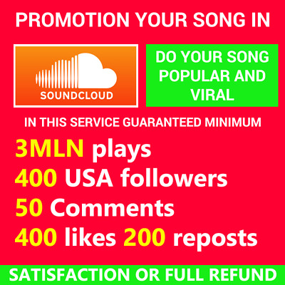 Soundcloud Song Promotion Plays Followers Comments Likes Reposts High Safe Seo