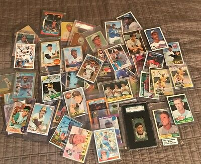 Huge Lot (50) Vintage Cards From 50's-90's + 2 Unopened Card Packs *description*