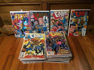 Lot of 63 Cable #-1,1-10,13,16-18,20-24,26-58,67-72 (1993) Marvel Comics VF/NM