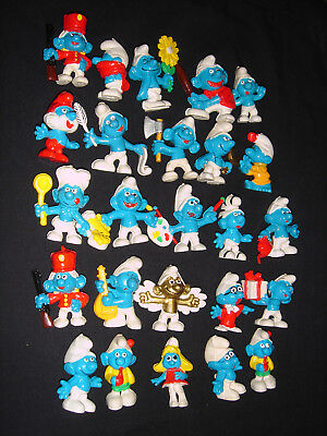 Smurf Like Collection FAKE Smurfs Peyo Bully W. Germany Lot Of 25 Assorted Used