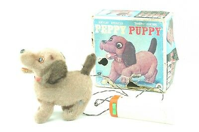 VINTAGE PEPPY PUPPY TOY BATTERY OPERATED, 60's.