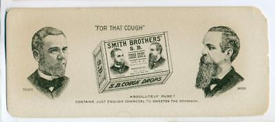 VINTAGE ADVERTISMENT BLOTTER SMITH BROTHERS COUGH DROP s POUGHKEEPSIE New York
