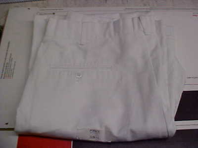 50% Navy Cracker Jack Sea Cadet Male Dress White Trousers Bell Bottoms 38L #w43