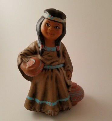 Native American Girl Carrying Water Statue/Figurine