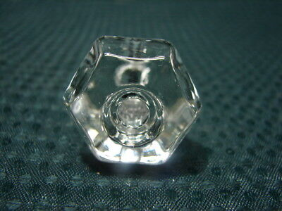 OPC Antique 6 Sided Glass Drawer Pull 1 1/8""