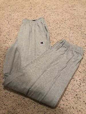 Champion Jogger Sweatpants Logo Cuffed Bottom Mens Size Large