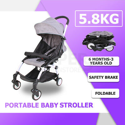Baby Stroller Kids Compact Pram Lightweight Carry-on Travel Foldable Travelling