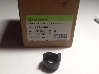 1 Pc of Greenlee 721-3/4 Punch, RD-.750 Conduit, New