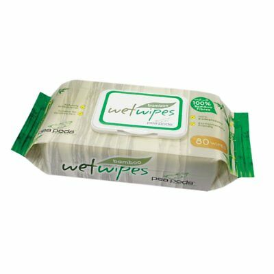 Peapods Bamboo Wet Wipes 80 Pk