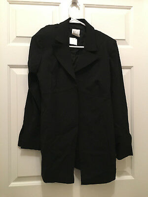 NWT Mimi Maternity Women's Maternity Lined Black Business Blazer Jacket Small