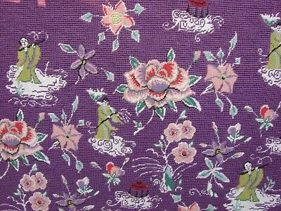 Antique Chinese Buddhist Embroidery Panel Counted Stitch Gros Petit Point Rare
