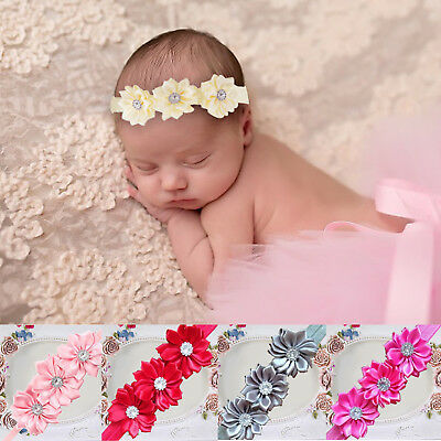 Cute Baby Girls Flower Hairband Soft Elastic Headband Hair Accessories Band