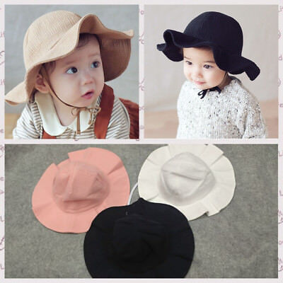 Newborn Toddler Kids Sun Cap Summer Outdoor Girl Boy Casual Sun Beach Cotton Hat