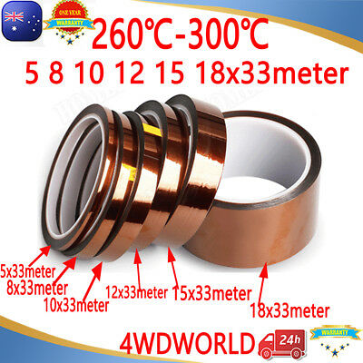Kapton Tapes HighTemperature Heat Resistant Polyimide for Reprap 3D Printer 33M