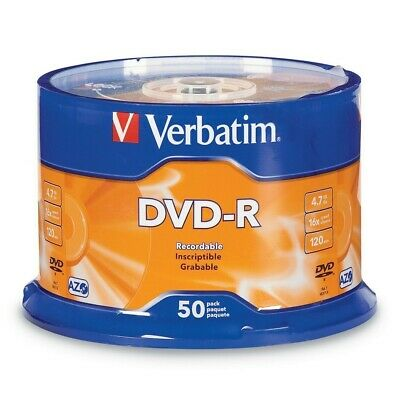 Verbatim DVD-R 4.7GB/16X - 50 Pack Spindle