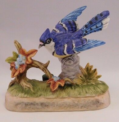 Collectors Porcelain Art: 1972 Bud Hastin Enterprises  Bird #272/1200  Blue Jay