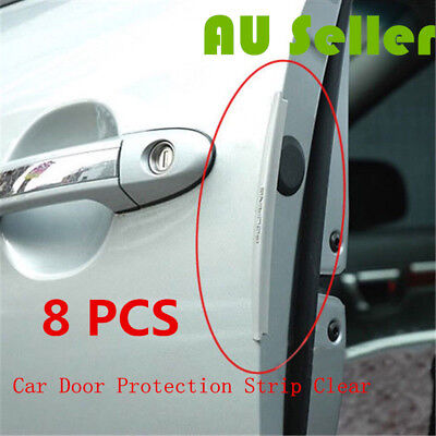 Clear Car Side Door Edge Defender Protector Trim Guard Protection Strip 8PCS