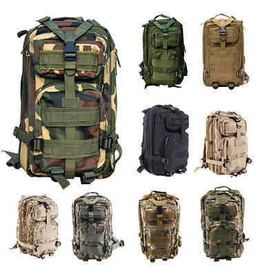 AU Army Molle Day Pack Assault Tactical Military Camping Backpack Bag Outdoor BW