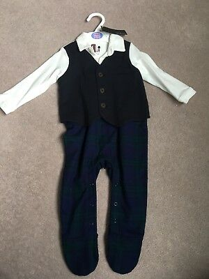 M&S Smart All In One Suit 9-12M