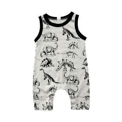 USA Newborn Baby Boys Girl Dinosaur Romper Jumpsuit Bodysuit Outfits Clothes res
