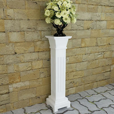 Indoor White Pedestal Plant Pillar Stand Home Decor Entry Display