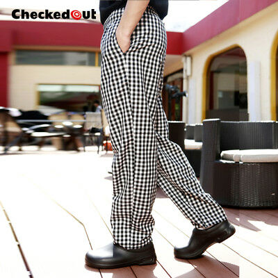 Chef Trousers Cotton Catering Pants catering Kitchen Trousers LARGE CHECK