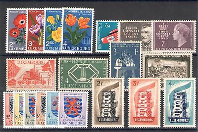 1956 Lussemburgo Luxembourg Annata Completa - Completely year set 12 val n° 5...