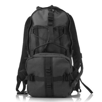 2.5L Hydration Pack Backpacks With Bladder Polyester For Hiking Running Black
