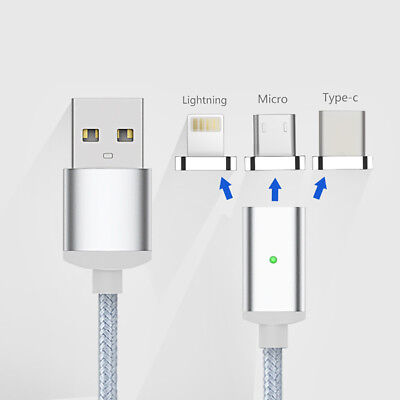 For IOS Android Type c Micro USB Port Magnetic Adapter USB Charger Cable Lot