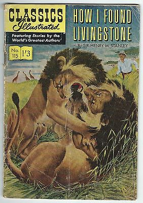 Classics Illustrated 115 How I Found Livingstone Strato Publications Ltd Good-