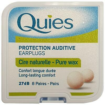Quies cire bouchons d'oreille 8 paires 1 2 3 6 12 packs