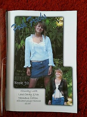 book 92 by posh frocks for machine knitting. please see description and photos
